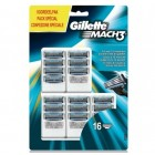 Gillette Mach 3 scheermesjes   16 stuks