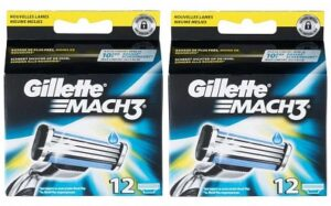 Gillette Mach 3 scheermesjes | 24 stuks