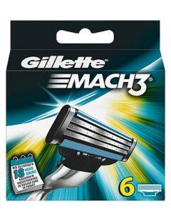 Gillette Mach 3 scheermesjes | 6 stuks