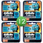 Gillette Fusion ProShield scheermesjes   12 stuks