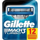Gillette Mach 3 Turbo scheermesjes | 12 stuks
