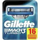 Gillette Mach 3 Turbo scheermesjes | 16 stuks