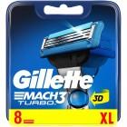 Gillette Mach 3 Turbo scheermesjes | 8 stuks