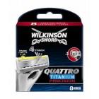 Wilkinson Quattro Titanium scheermesjes | 8 stuks