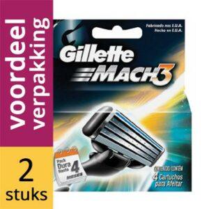 Gillette Mach 3 scheermesjes | 8 stuks