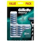 Gillette Mach 3 scheermesjes   20 stuks